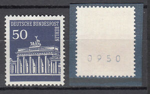 Berlin-1966-Mi-Nr-289-R-Postfrisch-Rollmarke-mit-Nr-TOP-20613