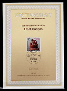 Berlin BRL 1988 MiNr. 823 ESSt ETB 15/1988 - Ernst Barlach - SSt Deutschland - <span itemprop=availableAtOrFrom>Berlin, Deutschland</span> - Berlin BRL 1988 MiNr. 823 ESSt ETB 15/1988 - Ernst Barlach - SSt Deutschland - Berlin, Deutschland
