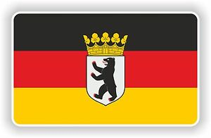 berlin deutschland flagge mit wappen aufkleber deutsch auto motorrad fahrrad ebay. Black Bedroom Furniture Sets. Home Design Ideas