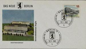 Berlin-FDC-MiNr-265-6-Das-neue-Berlin-Universitaetsklinikum-Steglitz-Bauwerk