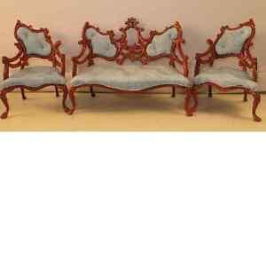 Miniature Living Music Room Furniture Set Wood Chair Sofa New | eBay