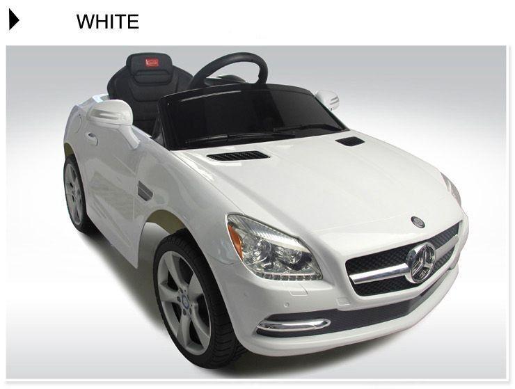 Battery mercedes benz slk350 ride on toy car remote control for Ride on mercedes benz toy car