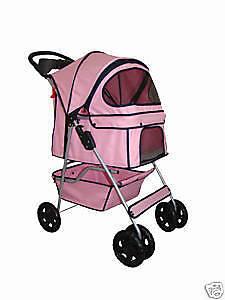 BestPet 4 Wheels Pet Dog Cat Stroller 14 Color Choices