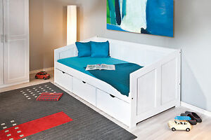 bett 90x200 cm kinderbett funktionsbett stauraumbett. Black Bedroom Furniture Sets. Home Design Ideas