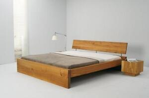 bett eiche massiv ge lt 140x200 ebay. Black Bedroom Furniture Sets. Home Design Ideas