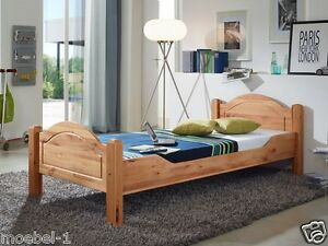 bett holz massiv holzbett 90x200 100x200 140x200 200x200. Black Bedroom Furniture Sets. Home Design Ideas