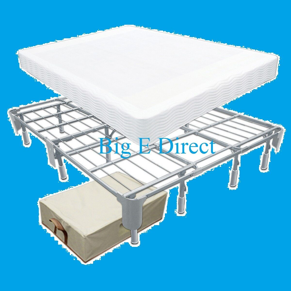 Better Thana Box Spring Metal Bed Frame For Cal King Queen Full Twin Xl Mattress Ebay