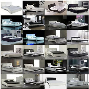bettgestell designer bett rahmen gestell wasserbett ebay. Black Bedroom Furniture Sets. Home Design Ideas