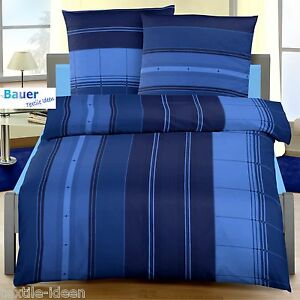 bettw sche 155x220 cm nadelstreifen marine blau 1444 biber. Black Bedroom Furniture Sets. Home Design Ideas