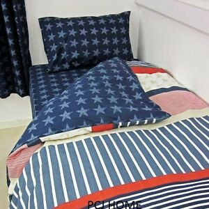 bettw sche amerikanisch usa muster rot wei blau baumwolle ebay. Black Bedroom Furniture Sets. Home Design Ideas