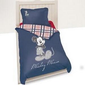 bettw sche set disney mickey mouse 140 x 200 cm blau 100. Black Bedroom Furniture Sets. Home Design Ideas