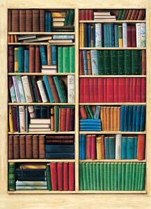 Biblioteque bookshelf mural 401 books wallpaper murals for Bookshelf mural wallpaper