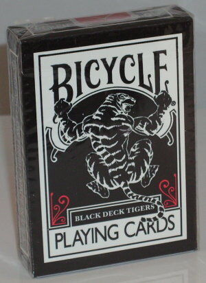 Bicycle Black Tiger Deck by Ellusionist, red pips.Magic in Collectibles, Fantasy, Mythical & Magic, Magic | eBay