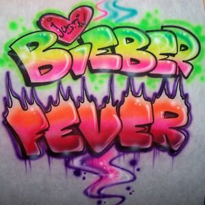 Bieber Fever Airbrushed Justin Bieber Custom T Shirt Airbrush Any Name