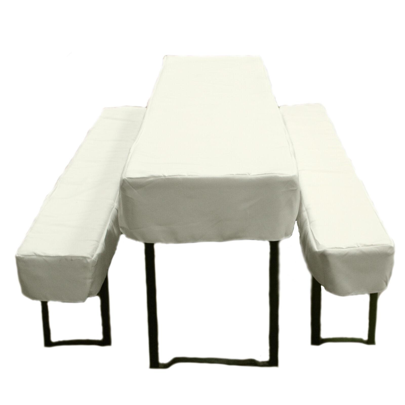 biertischhusse 3tlg set aus polyester bierzeltgarnitur tischdecke biertische ebay. Black Bedroom Furniture Sets. Home Design Ideas