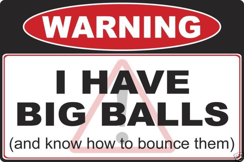 Big Balls warning decal sticker 4x4 Truck