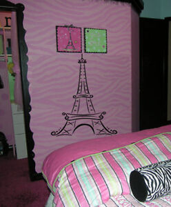 Big Eiffel Tower Paris Girls Kid Room Wall Decal Decor EBay
