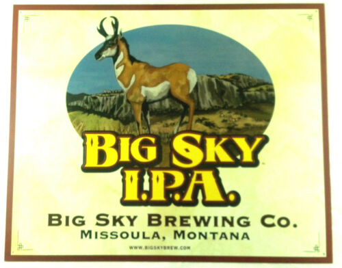 Big Sky Brewing (Moose Drool) - IPA Metal Beer Sign (Tin Tacker ) New! in Collectibles, Breweriana, Beer, Signs, Tins | eBay