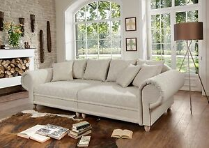 big sofa julia kolonialstil xxl mega kolonialsofa federkern shabby chic ebay. Black Bedroom Furniture Sets. Home Design Ideas
