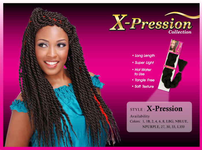 Bijoux x Pression Braiding Hair Xpression Expression Synthetic