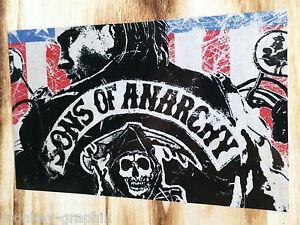 biker kutte sons of anarchy aufkleber auto sticker 1. Black Bedroom Furniture Sets. Home Design Ideas