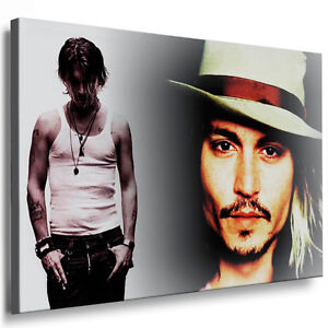 bild leinwand johnny depp keilrahmen bilder kunstdrucke k poster plakat ebay. Black Bedroom Furniture Sets. Home Design Ideas