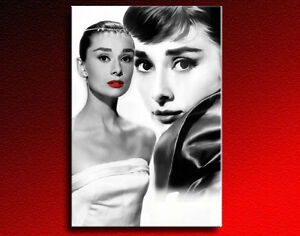 bild auf leinwand audrey hepburn kunstdrucke wandbilder poster art bilder ebay. Black Bedroom Furniture Sets. Home Design Ideas