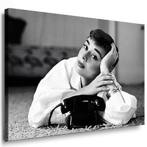 bild auf leinwand audrey hepburn kunstdrucke wandbilder. Black Bedroom Furniture Sets. Home Design Ideas