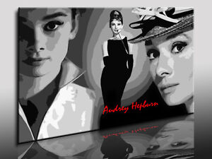 bild auf leinwand audrey hepburn kunstdrucke wandbilder poster bilder ebay. Black Bedroom Furniture Sets. Home Design Ideas