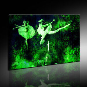 bild auf leinwand ballerina ballet bilder mit keilrahmen n12 kunstdrucke poster ebay. Black Bedroom Furniture Sets. Home Design Ideas