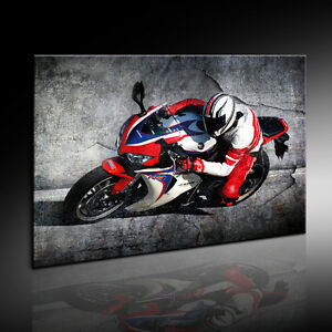 bild auf leinwand motorrad motorsport bilder mit keilrahmen kein. Black Bedroom Furniture Sets. Home Design Ideas