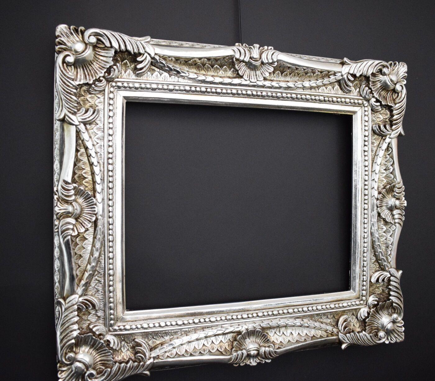 Bilderrahmen 40 x 50 cm 60x70 cm silber rokoko for Fenster 60x70