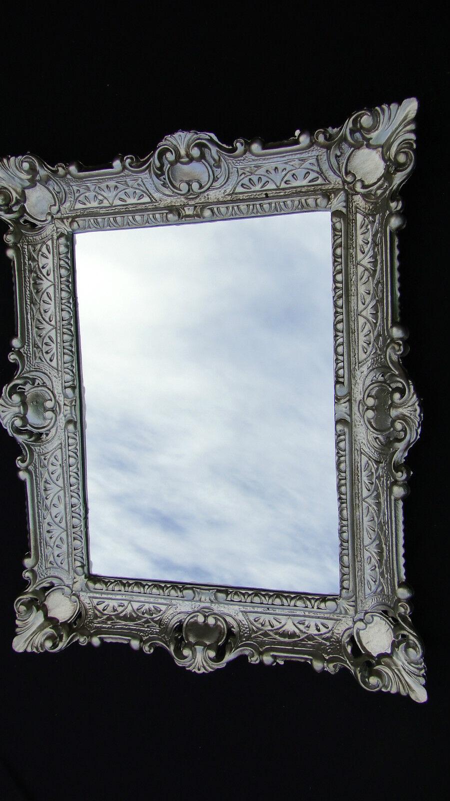 picture frame baroque black silver 56x46 mirror frame rectangular 30x40 retro ebay. Black Bedroom Furniture Sets. Home Design Ideas