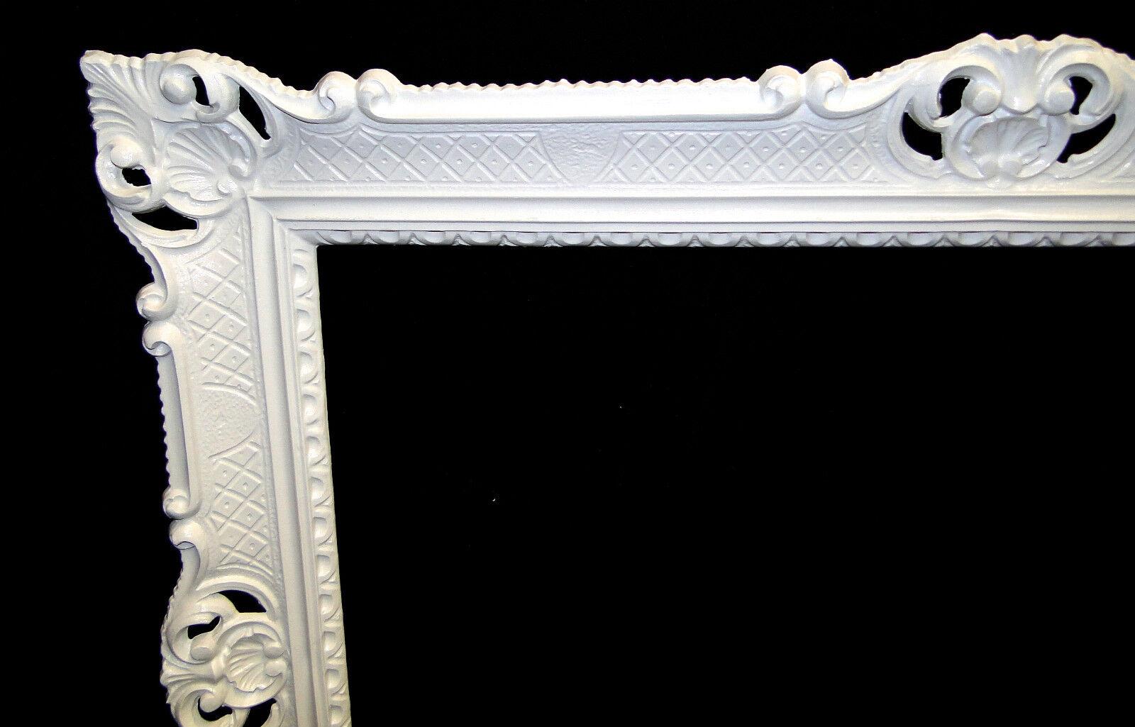 bilderrahmen barock 70x90 bilderrahmen jugendstill antik rechteckig gross wei ebay. Black Bedroom Furniture Sets. Home Design Ideas