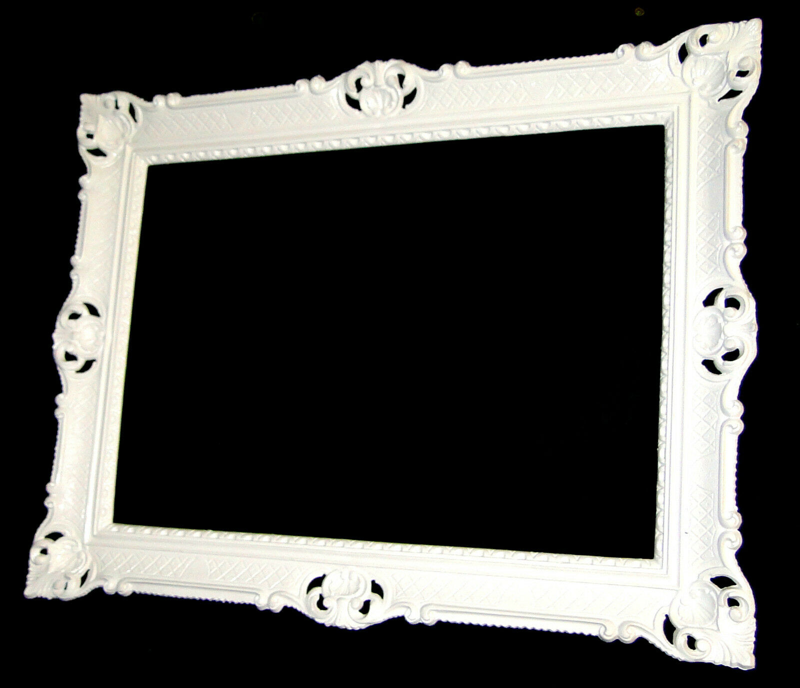 picture frame big 90x70 baroque rectangular white photo antique ebay. Black Bedroom Furniture Sets. Home Design Ideas