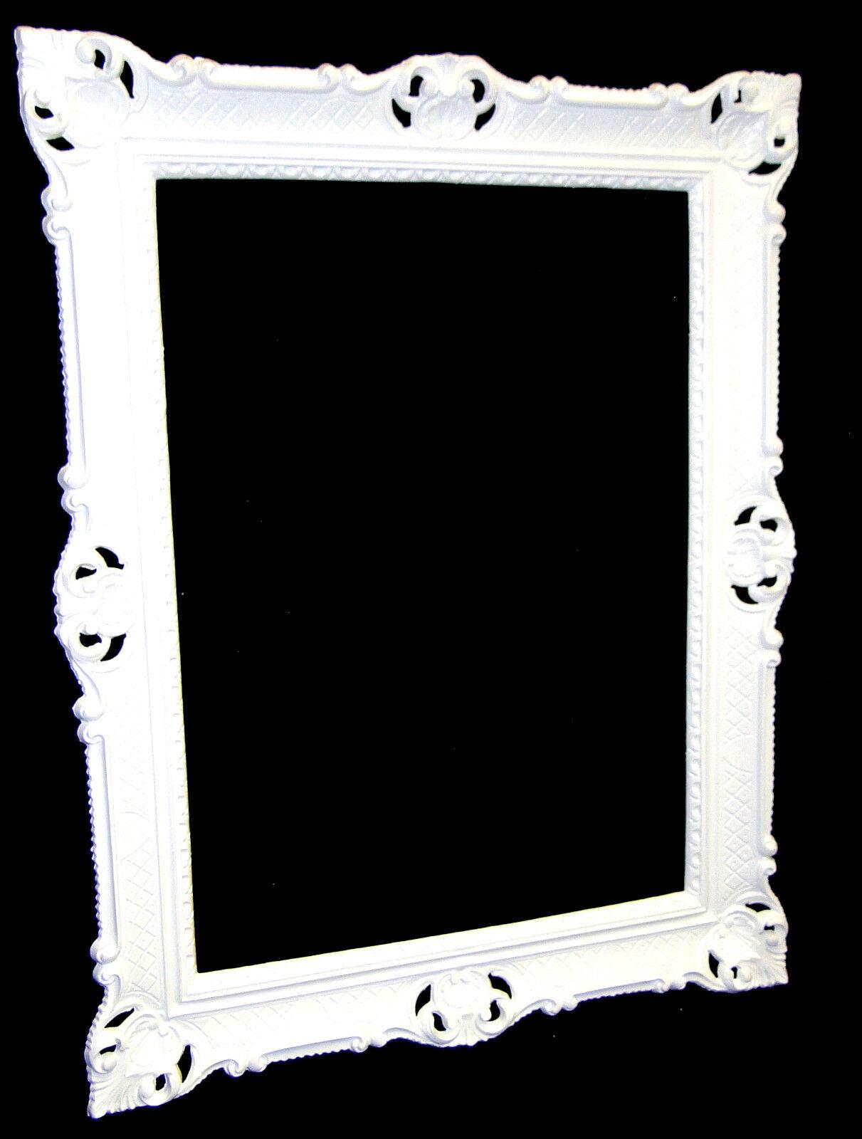 bilderrahmen gro 90x70 bilderahmen barock rechteckig wei. Black Bedroom Furniture Sets. Home Design Ideas