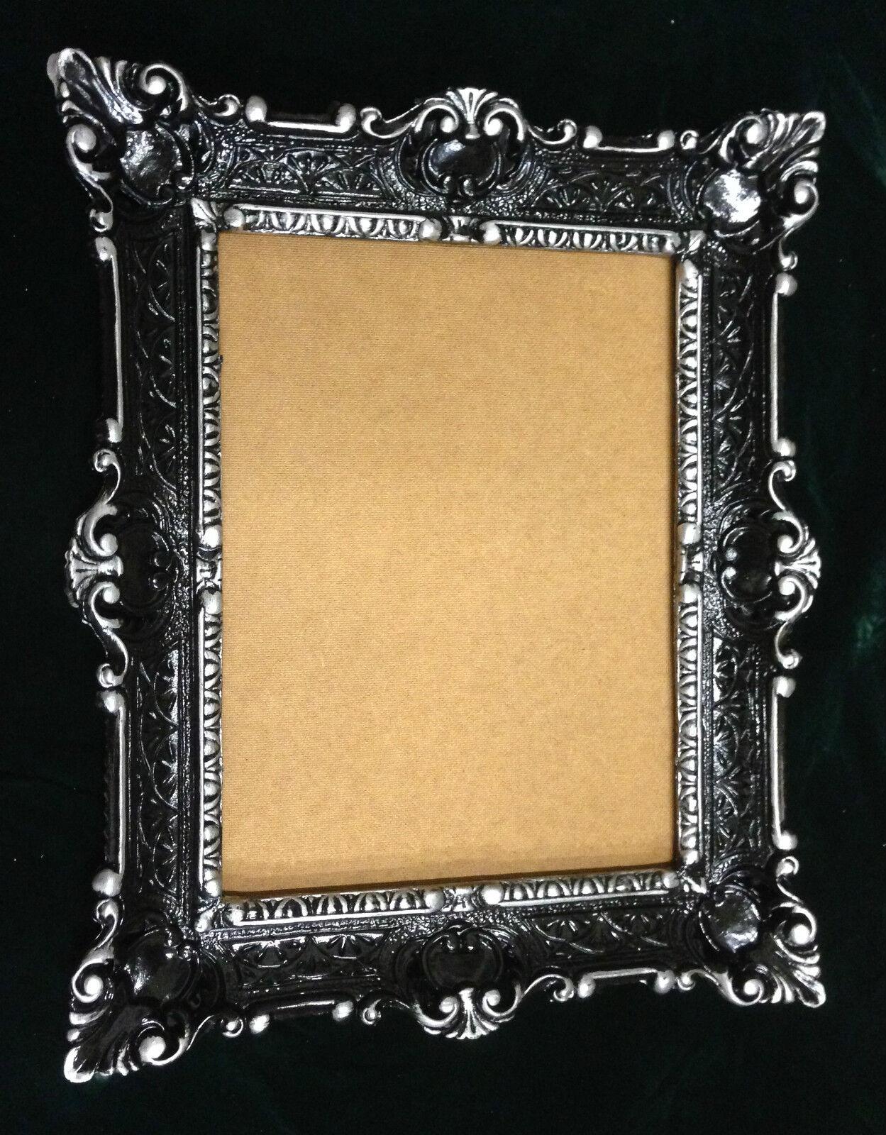 bilderrahmen antiksilber mit glas antik rechteckig 56x46 barock 30x40 fotorahmen ebay. Black Bedroom Furniture Sets. Home Design Ideas