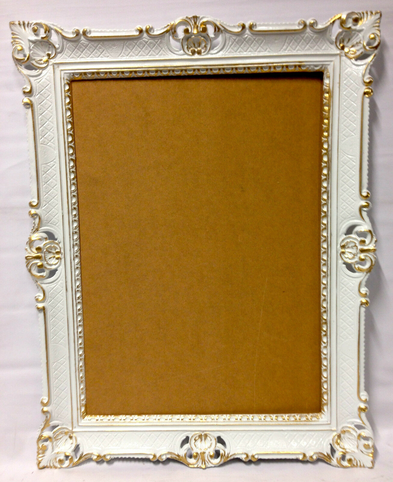 picture frame white gold antique retro vintage poster 90x70 large ebay. Black Bedroom Furniture Sets. Home Design Ideas