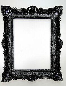 bilderrahmen barock 56x46 fotorahmen antik bilderrahmen schwarz rechteckig 30x40 ebay. Black Bedroom Furniture Sets. Home Design Ideas
