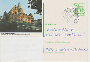 Bildpostkarte 1.80, Recklinghausen, Tagesstempel Schermbeck 2, - Einig, Deutschland - Bildpostkarte 1.80, Recklinghausen, Tagesstempel Schermbeck 2, - Einig, Deutschland