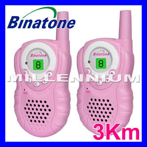 Binatone-Latitude-150-Pink-3km-Digital-Walkie-Talkie-Two-Way-2-Way-Radio-Camping