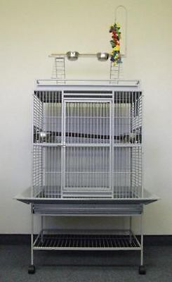 Bird Parrot cage Macaw Cockatoo African Grey Q32-2422 S in Pet Supplies, Bird Supplies, Cages | eBay