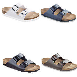 birkenstock arizona leder gr 35 50 schwarz weiss blau. Black Bedroom Furniture Sets. Home Design Ideas