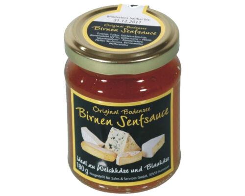 Birnen-Senfsauce-180g-Birnensenf-ideal-zu-Weichkaese-und-Blauschimmelkaese