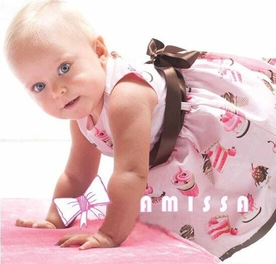 Birthday Cake Ice Cream Infant Dress by Amissa 100 Cotton