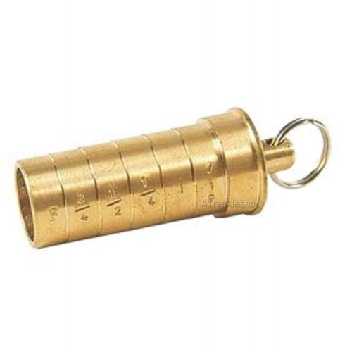 Bisley 12 Bore//12g Brass Shotgun Choke Gauge Identifier Shooting Keyring