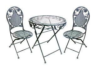 bistro set balkon set eisen gartenm bel set antik look. Black Bedroom Furniture Sets. Home Design Ideas