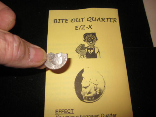 Bite Out Quarter Magic Trick Like David Blaine Performed on National TV in Collectibles, Fantasy, Mythical & Magic, Magic | eBay