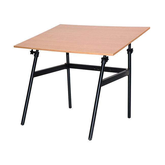 Black Adjustable Folding 30 X 42 Drawing Table Desk