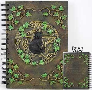 Black Cat Pentacle Book of Shadows, Journal, Diary or Sketchbook! in Books, Accessories, Blank Diaries & Journals | eBay